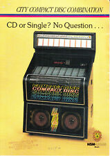 N.S.M. Nsm City Cd Combo (Combi) juke box jukebox Flyer Brochure Good Condition