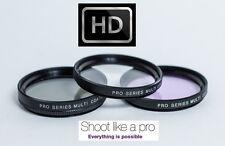HD 3Pc Set UV Polarizer & FLD Filter Kit For Panasonic HC-X1000 HC-W850 HC-V750