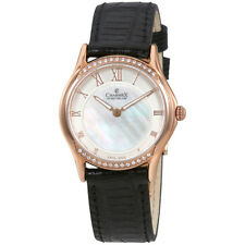 Charmex Cannes Mother of Pearl Dial Ladies Black Leather Watch 6326