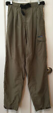 ExOfficio Cargo Hiking Outdoor Pants Dark Khaki Elastic Waist Web Belt Sz 6 / 8