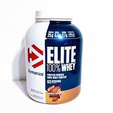 Dymatize Nutrition Elite 100% Whey Protein 2 lbs, Vanilla Cupcake, Open