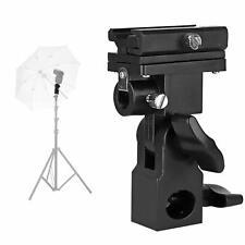 Camera Flash Mount Swivel Light Stand Bracket with Umbrella Reflector Holder