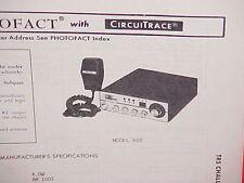 1979 TRS CHALLENGER CB RADIO SERVICE SHOP MANUAL MODEL 600