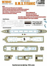 Wood Hunter 1/700 R.M.S. Titanic Wooden Deck for Revell kit #05210