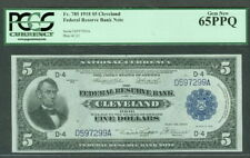 $5.00 FRBN – Cleveland, 1918, Fr. #785, PCGS Grade 65PPQ Gem Unc