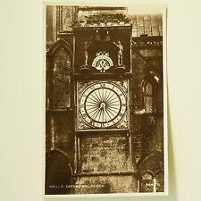 WELLS CATHEDRAL CLOCK - UK POSTCARD - 1920's (?) vintage. Horological rarity!