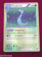 Carte Pokemon ULTRA RARE brillante Serpiroyal KP 130 / 130 PV allemande NEUVE