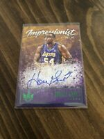2019-20 Court Kings Horace Grant Impressionist Ink Autograph Green 04/25 Lakers
