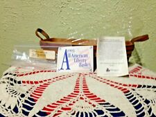 Longaberger 1993 Liberty All American Basket & Protector Red & Blue weave, liner