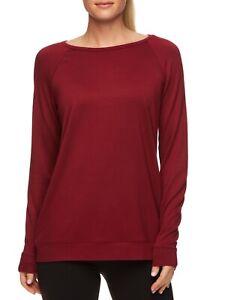Avia Women's Long Sleeve Yoga Top, Red, Large 12-14