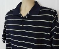 Mens Adidas ClimaCool Polo Short Sleeve Golf Shirt Blue Striped Size L