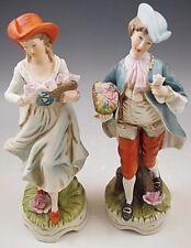 CAPODIMONTE ITALY BOY AND GIRL VICTORIAN PAIR VINTAGE 1960's RARE W/ORIGINAL BOX