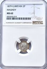More details for 1879 silver maundy twopence ms62 ngc great britain uk coin two pence 2p