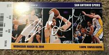 Kobe Bryant and Pau Gasol Beautifully Autographed home game ticket.