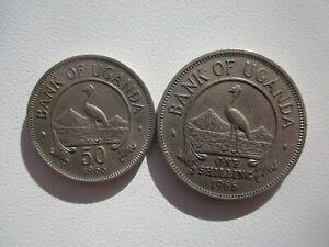 1966 UGANDA 2 COINS