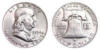 1954-P Franklin Half Dollar Brilliant Uncirculated- BU