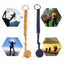 7 Cord Strand Fist Paracord Self Defense Keychain Military Steel Ball Survival