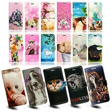 ANIMALS PRINT BOOK LEATHER WALLET FLIP BOOK PHONE CASE COVER FOR APPLE IPHONE SE