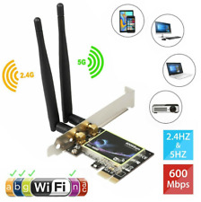 More details for 2.4g/5ghz wireless 600mbps pci-e wifi card  dual band network adapter desktop pc