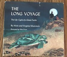 Vintage HC Book The Long Voyage Life Cycle Green Turtle With Dust Jacket 1972