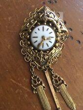 Art Deco Clock Face Brooch