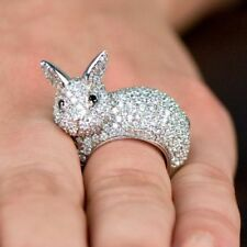 Unique Designer Bunny Rabbit Animal Nature Inspired Exclusive Silver Ring
