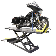 Rml 1500xl Motorcycle Lift Platform With Front Wheel Vise Deluxe Extend