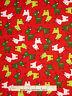 Christmas Fabric - Holiday Reindeer Deer Red Green #15268 Kaufman Jingle - Yard