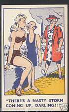 Comic Postcard - Swimming / Bathing Suits / Mother-In-Law / Seaside A7215