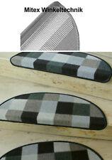 Treppenmatte - Tapis D'Escalier Patchwork Gris Demi-Cercle 65x23 CM Pour