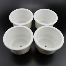 4PCS Pretty White Boat Plastic Cup Drink Holder For Boat Marine RV Car Durable