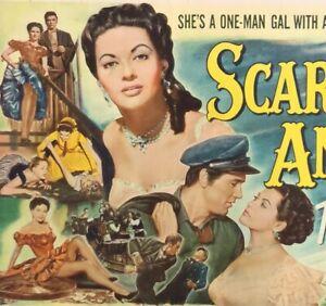 SCARLET ANGEL LOBBY CARD COMPLETE SET (8) MOVIE POSTER 1952 DeCarlo Hudson