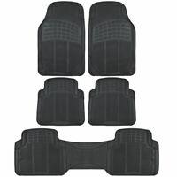 Heavy Duty Rubber Floor Mats for Car SUV Van Trimmable Black 5 Piece Set⭐⭐⭐⭐⭐