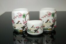 Large  Porcelain Bird Feeders Bowls Cups for Chinese Bamboo Bird Cage