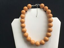 Women's Chunky Mustard Bead Choker Necklace