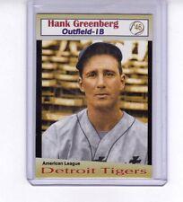 Hank Greenberg, '46 Detroit Tigers, rare Miller Press limited edition