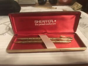 Shaeffer Gold Grapes Pen and Pencil Gorgeous!