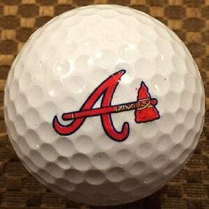 1 Dozen (Atlanta Braves MLB Logo) Callaway Mix Mint Golf Balls