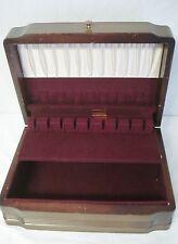 Vintage Flatware Storage Chest Box Art Deco Worn Outside Minty Inside Rogers
