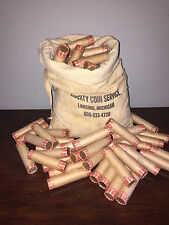 10 Rolls FORGOTTEN Unsearched Wheat Penny Rolls Unc & 1 oz Buffalo Silver coin