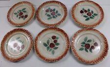 6 anciennes assiettes a dessert décor de fraises digoin Sarreguemines barbotines