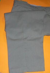 BIG BEN COTTON BLEND TAN CHINO MEN'S FLAT-FRONT NO CUFFS CASUAL PANTS-  40 X 25