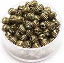 5 MM Vintage Brass Corrugated Round  Beads Pkg Of 100