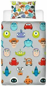 Disney Pixar Emoji Single Bedding Set Reversible Duvet Cover Featuring Toy Story