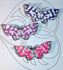 3 Pretty Butterfly French Barrettes Women fashion Hair Clips Slides Summer Clips