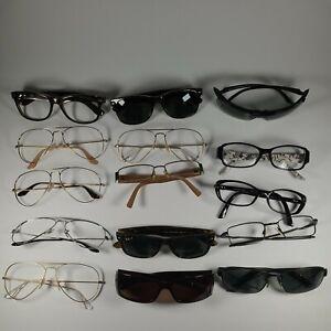15 Sunglasses Lot Ray Ban Gucci Oakley Fendi Parts Or Repair