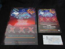 Asia 2012 XXX Japan Tour Book Ticket Promo Flyer Yes Steve Howe John Wetton ELP