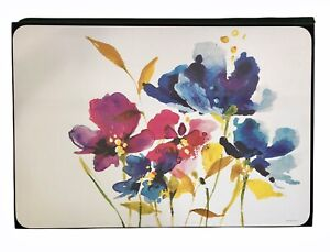 Jason New Zealand Placemats Set of Four Large Cork Back Art House Florals D6495