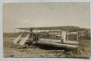 June 1911 NH RPPC Postcard Pittsfield Burgess Wright Aeroplane airplane vintage
