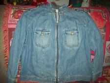82f0c759a6edc Jones New York Jeans Denim Jacket Tab Shoulders Womans 22W
